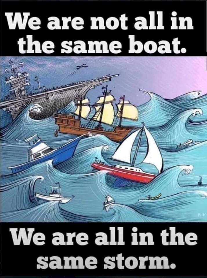 Badai kita sama, hanya perahu kita beda